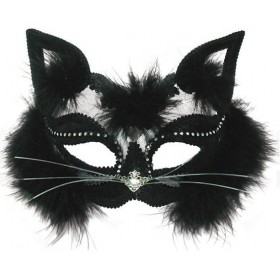 Transparent Black Cat Fancy Dress Eyemask
