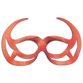 Red Demon Domino Eye Mask Fancy Dress Eyemask
