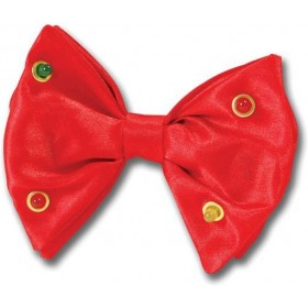 Bow Tie Red Flashing (Clowns Fancy Dress)