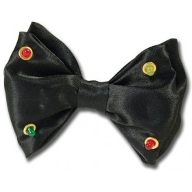 Bow Tie Black Flashing (Clowns Fancy Dress)