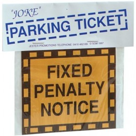 Joke Parking Ticket (Fancy Dress Tricks)