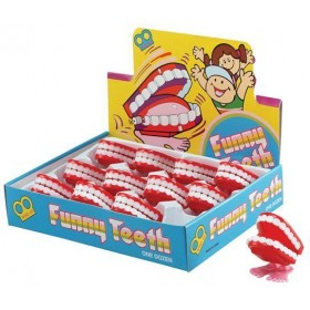 Teeth. Wind Up Mini Chattering (Fancy Dress Tricks)