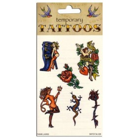 Tattoos Theme Ladies (6/Card) (1980S Fancy Dress)