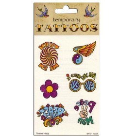 Tattoos Theme 70'S (6/Card) (1970S Fancy Dress)