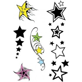 Star Theme Tattoos (1980S Fancy Dress)