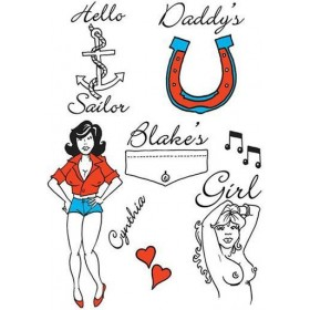 Amy Winehouse Theme Tattoos (Fancy Dress)