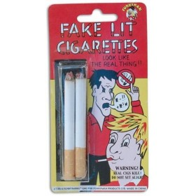 Fake Lit Cigarettes (2 In Packet) (Fancy Dress Tricks)