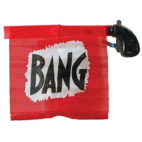 Flag Bang Gun. Pink (Fancy Dress Guns)