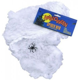 Spider Web Wool/Plastic Spider (Halloween Decorations)