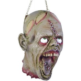Hanging Dead Head + Stitch Face (Halloween Decorations)