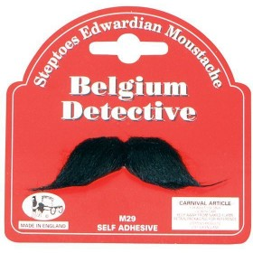 Belgium Detective Moustache (Fancy Dress Facial Hair)