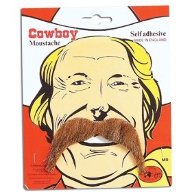 Cowboy Tash. Brown (Cowboys/Indians Fancy Dress Facial Hair)