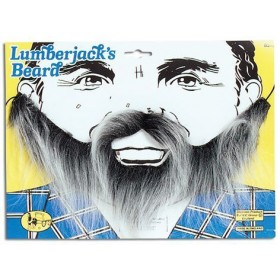 Lumberjack Beard. Grey (Fancy Dress Facial Hair)