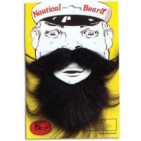 Nautical Beard. Black (Sailor Fancy Dress Facial Hair)