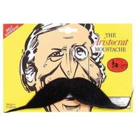 Aristocrat Tash. Black (Fancy Dress Facial Hair)
