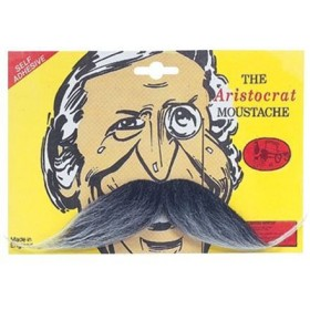 Aristocrat Tash. Grey (Fancy Dress Facial Hair)