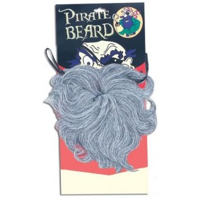 Pirate Beard. Wavy Grey (Pirates Fancy Dress Facial Hair)
