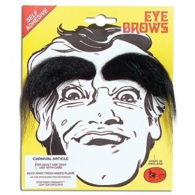 Eyebrows. Black (Fancy Dress Facial Hair)