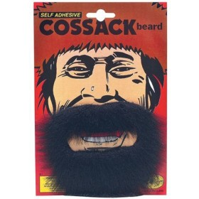 Cossack Beard. Black (Fancy Dress Facial Hair)