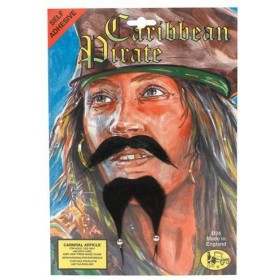 Caribbean Pirate Beard & Tash (Pirates Fancy Dress Facial Hair)