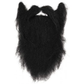 Character Beard. Black. Large (Fancy Dress Facial Hair)
