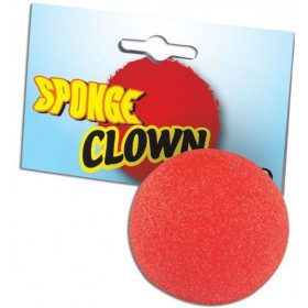 Nose, Clown, Red Sponge (Clowns Fancy Dress Disguises)