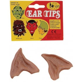 Ear Tips. Vinyl, Brown (Halloween Disguises)