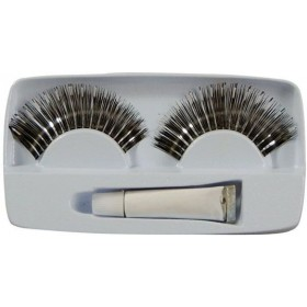 Eyelashes. Silver (Sexy Fancy Dress Eyelashes)