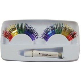 Eyelashes. Rainbow (Sexy , 1970S Fancy Dress Eyelashes)