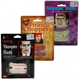 Horror Teeth 3 Styles Box of 24 (Halloween Disguises)