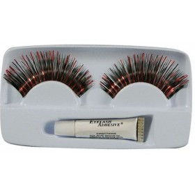 Eyelashes. Red/Black (Sexy Fancy Dress Eyelashes)