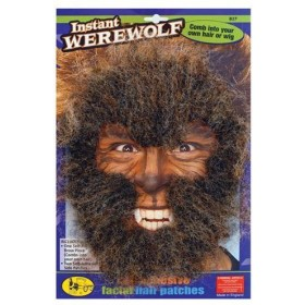 Instant Werewolf Face Hair Kit (Halloween Facial Hair)