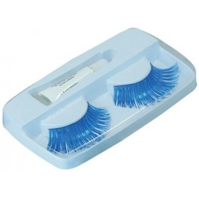 Eyelashes. Blue (Sexy Fancy Dress Eyelashes)