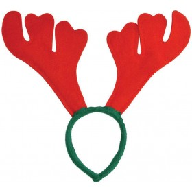 Fun Christmas Party Red/Green Felt Antler Headband