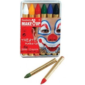 Bela Greasepaint. 6 Sticks in Box (Clowns Fancy Dress Face Paint)