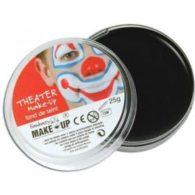 Body Black Makeup In Compacts (Clowns Fancy Dress Face Paint)
