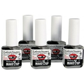 Tooth Black (Halloween Face Paint) Pack of 5
