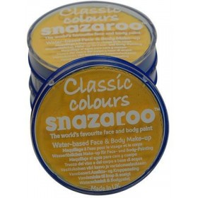 Snazaroo Yellow 18Ml Tubs (Clowns Fancy Dress Face Paint)