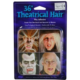 "Theatrical Hair 36"" Black (Halloween Facial Hair)"