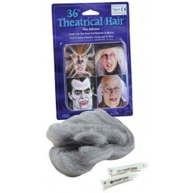 "Theatrical Hair 36"" Grey (Halloween Facial Hair)"