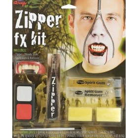 Vampire Zipper Special Fx Kit Halloween Accessory