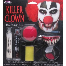 Killer Clown Make Up Kit Halloween Accessory