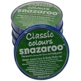 Snazaroo Lime Green 18Ml Tub (Clowns Fancy Dress Face Paint)