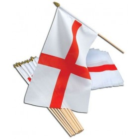 "St George Flag 18"" X 12""/Stick (Fancy Dress)"