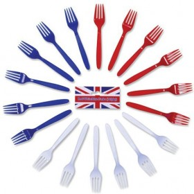 Red/White/Blue Forks (Fancy Dress)