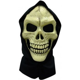 Skull Hooded Mask Pvc (Halloween Masks)