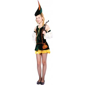 Teen Forest Hunter Girl Fancy Dress Costume
