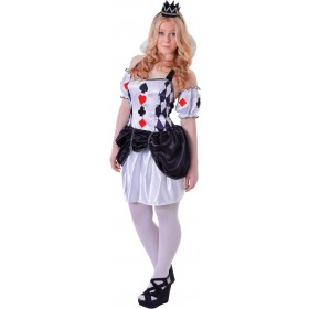 Teen Harlequin Card Jester Fancy Dress Costume