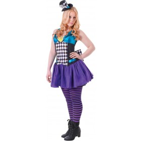 Teen Mad Hatter Fancy Dress Costume