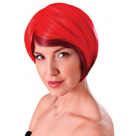 Blended Bob Red and Black Wig